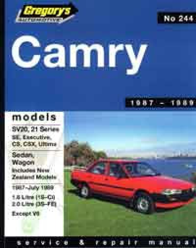 Toyota Camry SV20 SV21 Series 1987 1989 Gregorys Service Repair Manual