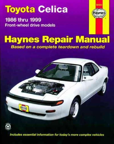 Toyota Celica Front wheel drive 1986 1999 Haynes Service Repair Manual