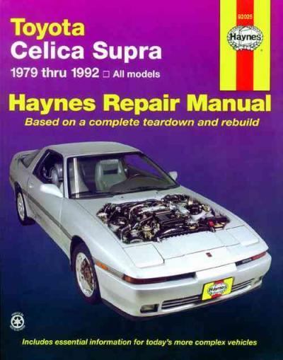 Toyota Celica Supra 1979 1992 Haynes Service Repair Manual