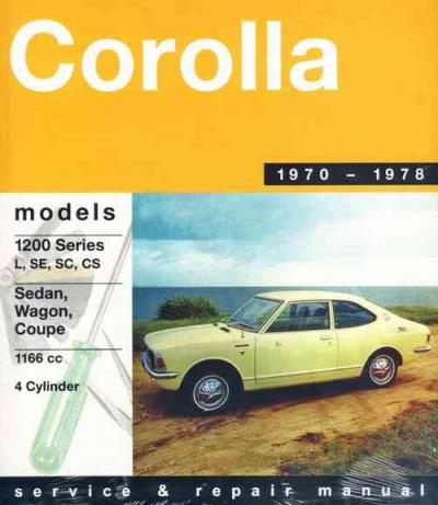 Toyota Corolla 1200 1970 1978 Gregorys Service Repair Manual