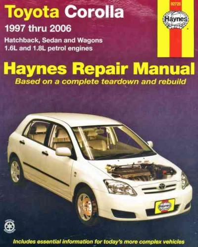 toyota corolla 1997 2006 haynes service repair manual sagin workshop car ma. Black Bedroom Furniture Sets. Home Design Ideas