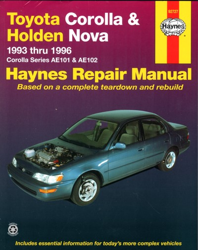 toyota corolla holden nova 1993 1996 haynes service repair manual rh workshoprepairmanual com au 1998 toyota corolla repair manual pdf 1990 Toyota Corolla DX