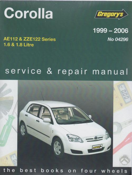 Toyota Corolla 1999 2006 Gregorys Service Repair Manual Sagin Workshop Car Manuals Repair