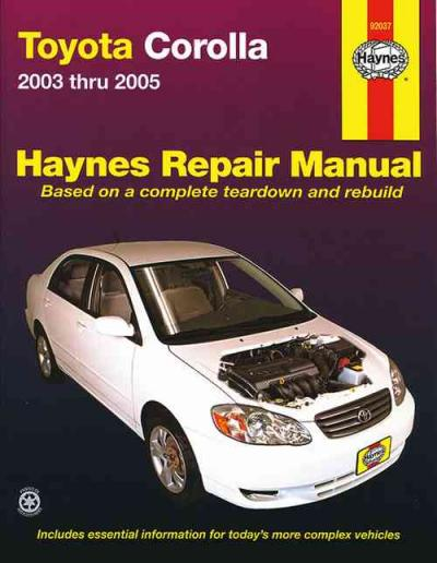 toyota corolla zze122r 2003 2005 haynes service repair. Black Bedroom Furniture Sets. Home Design Ideas