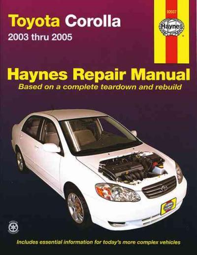 toyota corolla zze122r 2003 2005 haynes service repair manual sagin workshop car manuals toyota corolla 2003 manual oil type toyota corolla 2004 manual