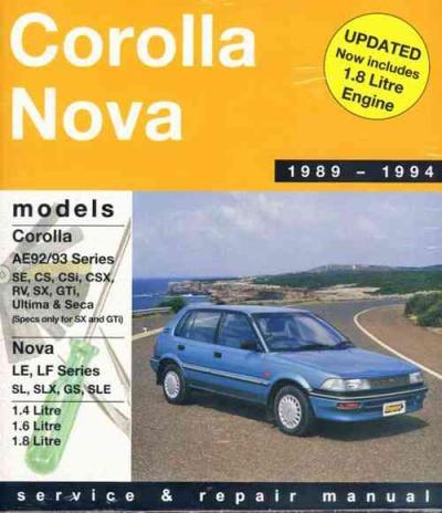 toyota corolla ae92 ae93 se cs csi csx rv ultima seca sx gti rh workshoprepairmanual com au 1989 Toyota Corolla Blue Book 1989 Toyota Corolla SR5