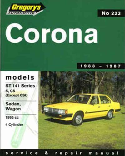 Toyota Corona St 141 1983 1987 Gregorys Service Repair
