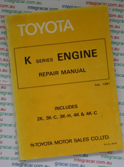 Toyota K series Engine repair manual