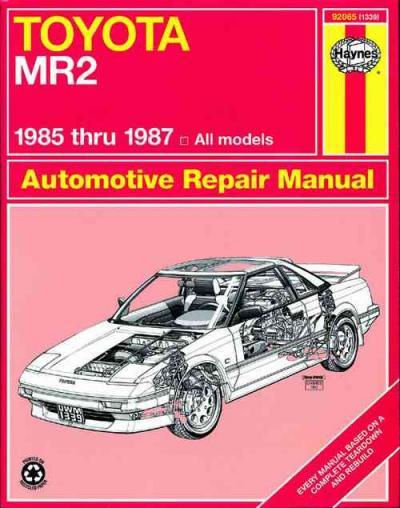 Toyota Mr2 1985 1987 Haynes Service Repair Manual Sagin Workshop. Toyota Mr2 1985 1987 Haynes Service Repair Manual. Toyota. 87 Toyota Mr2 Window Wiring Diagram At Scoala.co