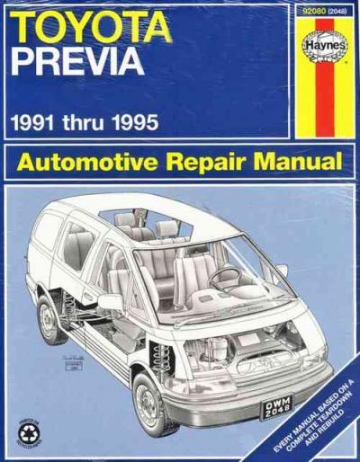 Toyota Tarago Previa Estima 1991 1995 Haynes Service