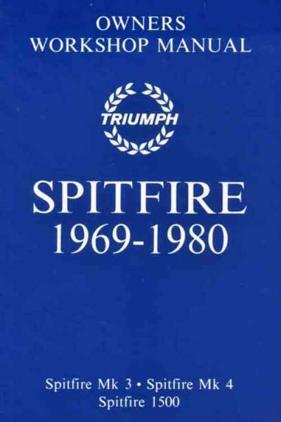 Triumph Spitfire Mk 3 4 1500 1969 1980 Workshop Manual
