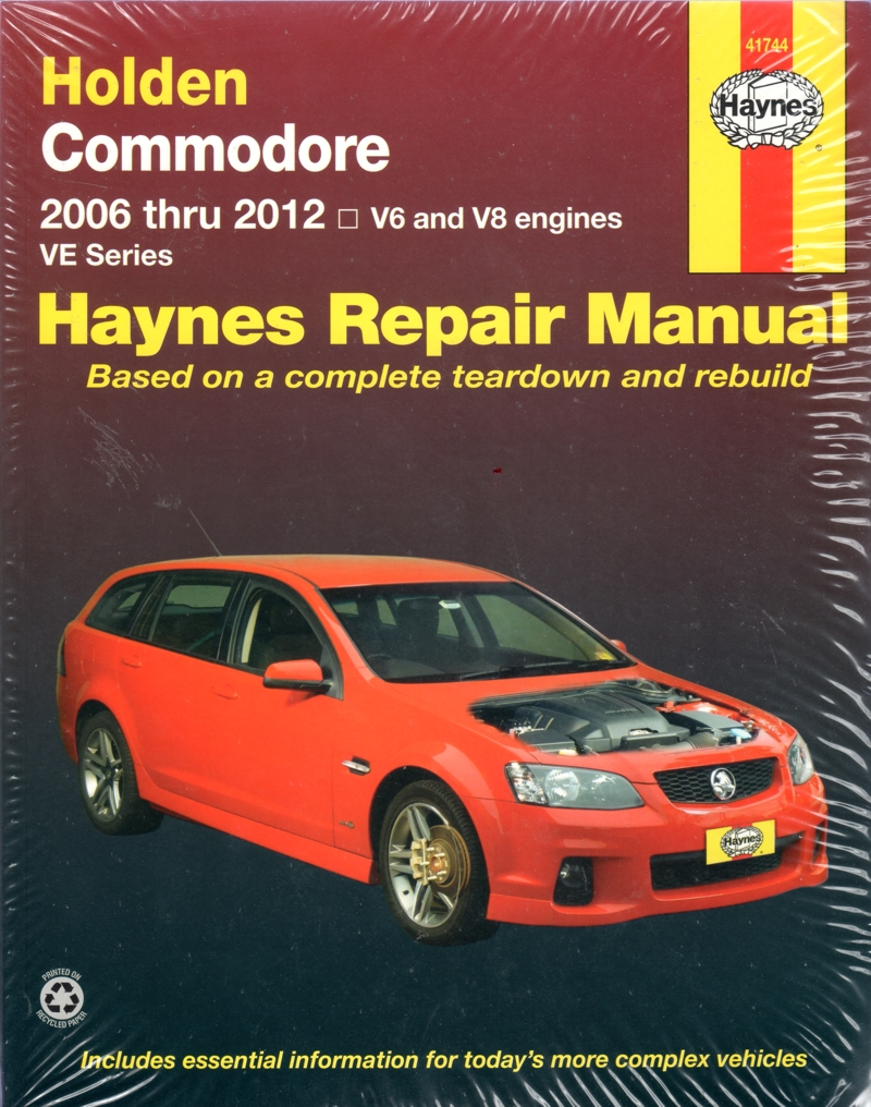 Holden Commodore Ve Series 2006 2012 Haynes Workshop