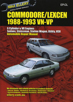 Holden Commodore VN VP Lexcen repair manual 1988 - 1993 - Ellery - NEW