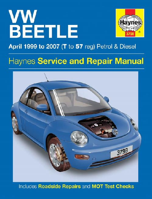 volkswagen vw beetle 1999 2007 repair workshop manual new. Black Bedroom Furniture Sets. Home Design Ideas
