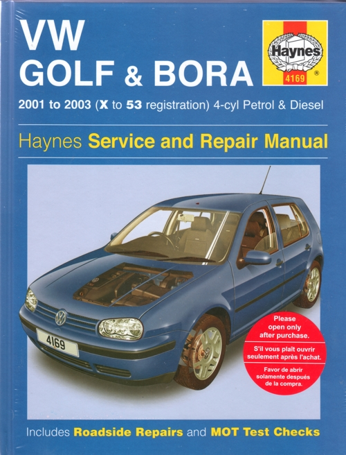 Vw Golf And Bora Service And Repair Manual Haynes 2001