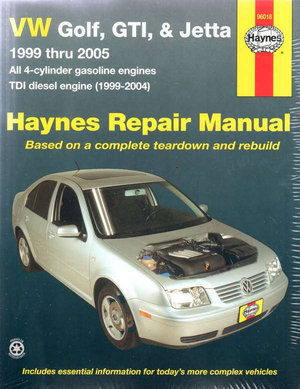 Volkswagen Golf GTI Jetta Cabrio 1999-2005 Haynes Service Repair Manual