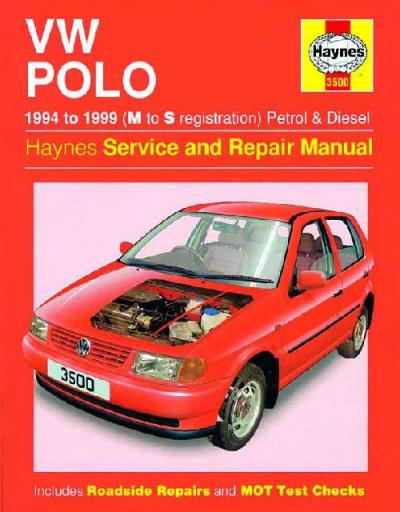 VW Volkswagen Polo 1994 1999 Haynes Service Repair Manual