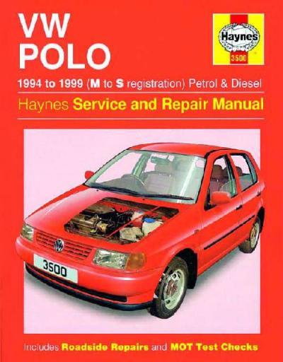 Vw Volkswagen Polo 1994 1999 Haynes Service Repair Manual