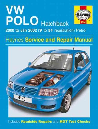 Vw Volkswagen Polo Hatchback Petrol 2000 2002 Haynes Service Repair Manual Sagin Workshop Car
