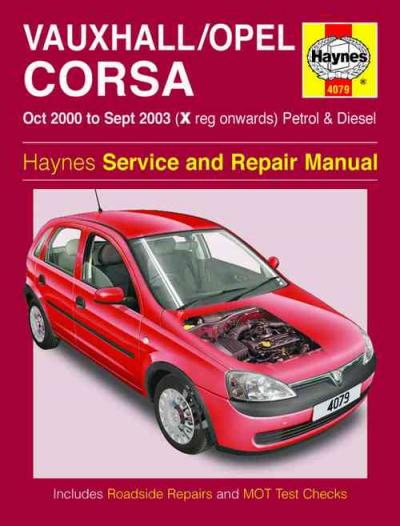 Vauxhall Opal Corsa Holden Barina 2000 2003 Haynes Service and Repair Manual   UK