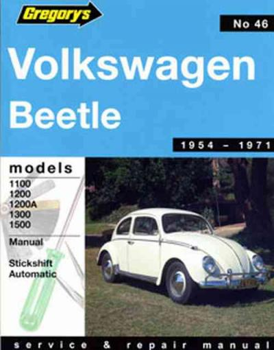 Volkswage VW Beetle 1100 1500 1954-1971 Gregorys Service Repair Manual
