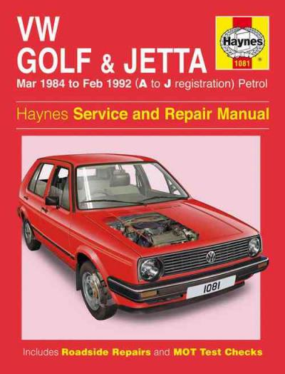 Volkswagen Golf Mk II Jetta 1984 1992 Petrol Repair Manual    UK