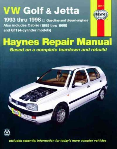Volkswagen VW Golf Jetta 1993-1998 Haynes Service Repair Manual
