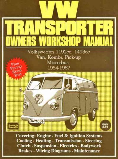 Volkswagen VW Transporter 1954 1967 Service Repair Manual   Brooklands Books Ltd UK