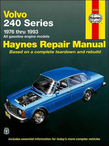 Volvo 240 Series (1976-1993) Automotive Repair Manual