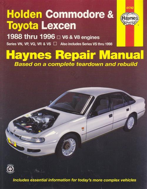 Holden Commodore Lexcen VN  VP  VQ VR and VS Service Repair Manual  1988-96