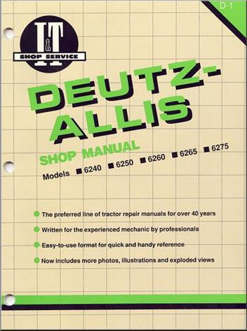 Deutz Allis Farm Tractor Owners Service & Repair Manual