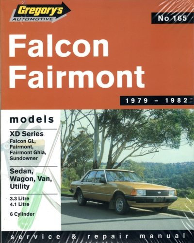 ford falcon xd 6 cyl 1979 1982 gregorys service repair. Black Bedroom Furniture Sets. Home Design Ideas