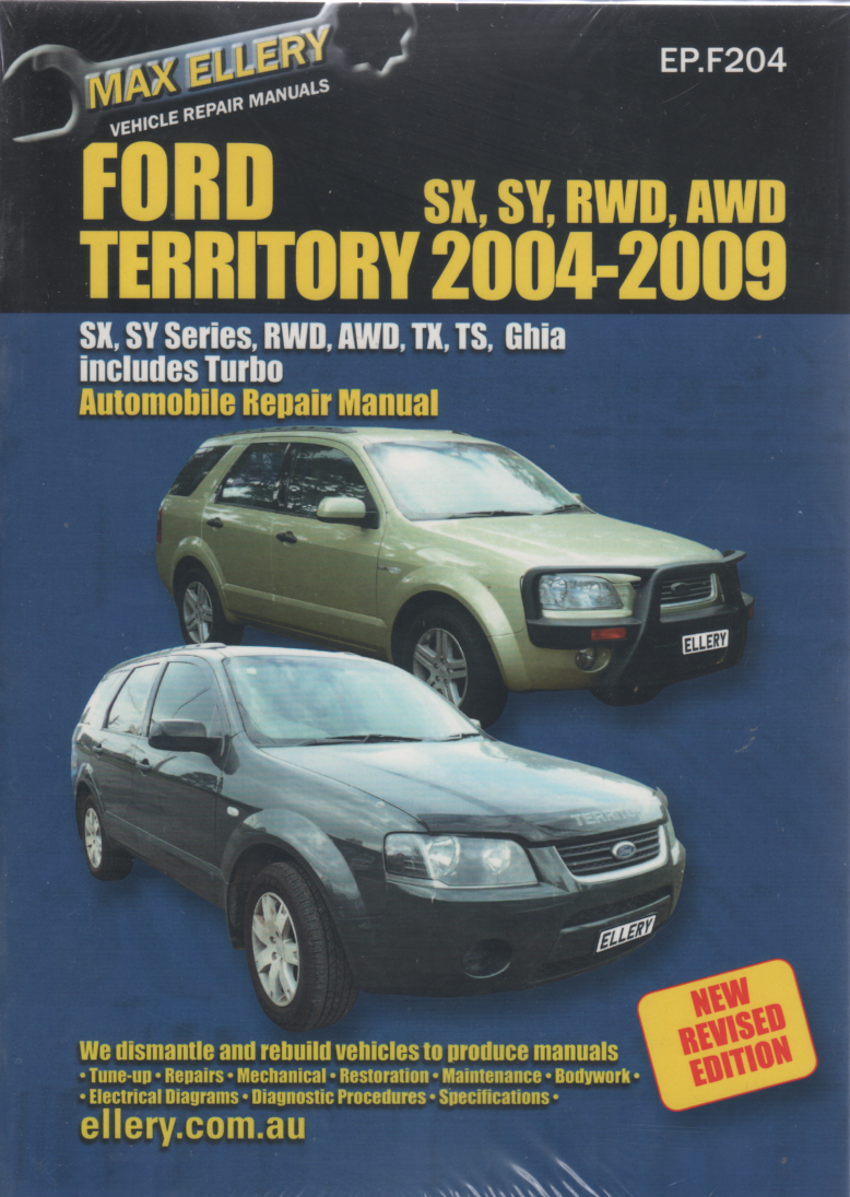ford territory repair manual ellery 2004 2009 new sagin. Black Bedroom Furniture Sets. Home Design Ideas