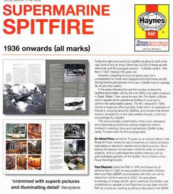 Supermarine Spitfire 1936 On (All Marks) Haynes Owners Workshop Manual