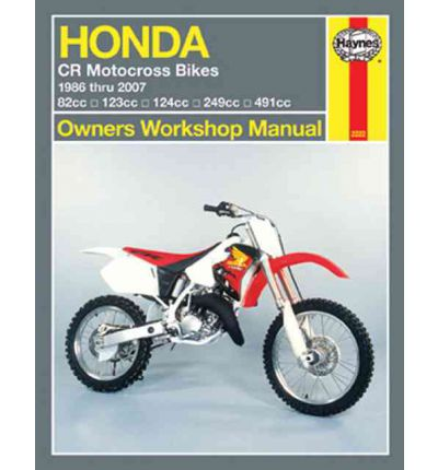 Haynes Honda CR Motocross Bikes Owners Workshop Manual