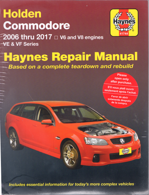 holden commodore ve series 2006 2017 haynes workshop repair manual rh workshoprepairmanual com au Holden Commodore VL Holden Commodore HSV