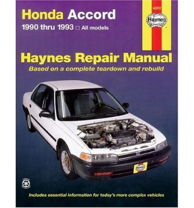 Honda accord 1990 1993 automotive repair manual sagin for Honda car repair
