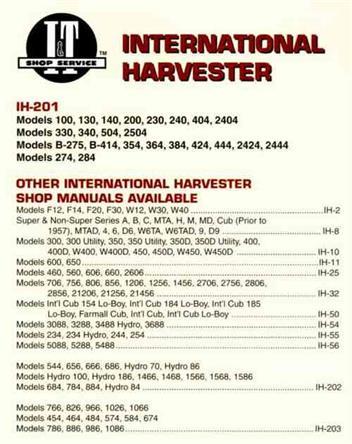 international harvester petrol diesel tractor owners. Black Bedroom Furniture Sets. Home Design Ideas