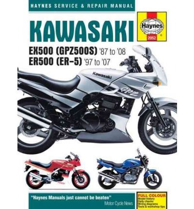 Kawasaki EX500 (GPZ500S) and ER500 (ER-5) Service and Repair Manual