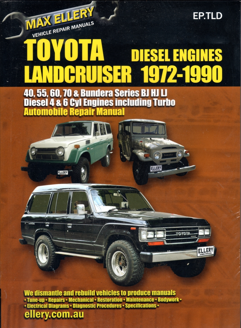 Toyota Landcruiser Diesel BJ HJ LJ series repair manual 1972-1990 Ellery NEW