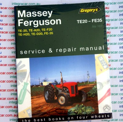 Massey Ferguson Te20 Fe35 Tractors Owners Service And