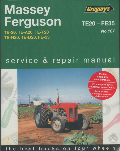 Massey Ferguson Tractor Troubleshooting : Massey ferguson te fe tractors owners service and