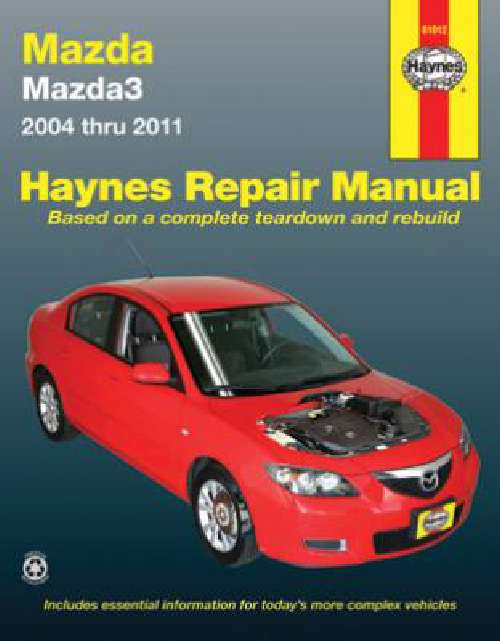 Mazda 3 Workshop Owners Repair Manual Haynes 2004