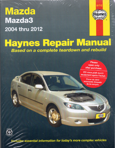 Mazda 3 workshop owners repair manual Haynes 2004-2012
