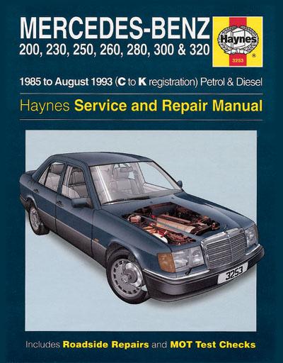 Mercedes benz 124 series 1985 1993 haynes sagin workshop for Mercedes benz workshop manuals