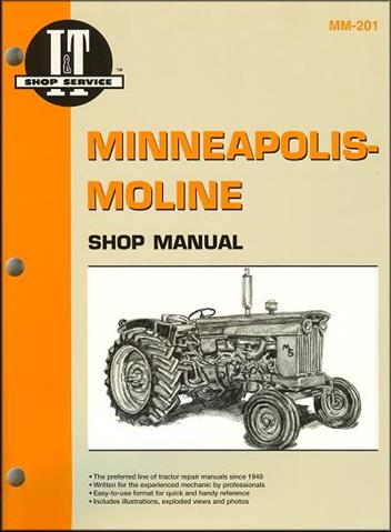 Minneapolis Moline Farm Tractor Owners Service & Repair Manual