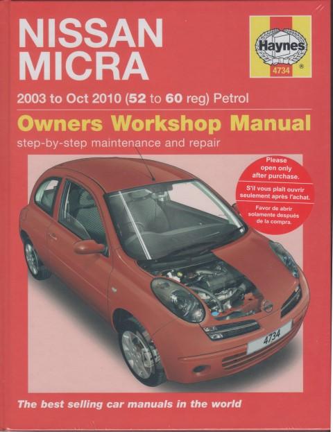 nissan micra k12 petrol 2003 2010 haynes service repair manual rh workshoprepairmanual com au Nissan Micra 2005 nissan micra 2003 owners manual download