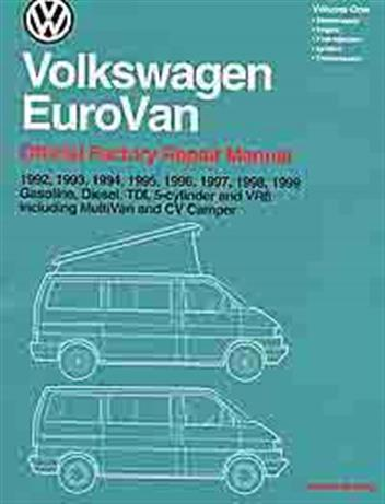 Volkswagen VW EuroVan (Transporter) 1992 - 1999 Owners Service & Repair Manual