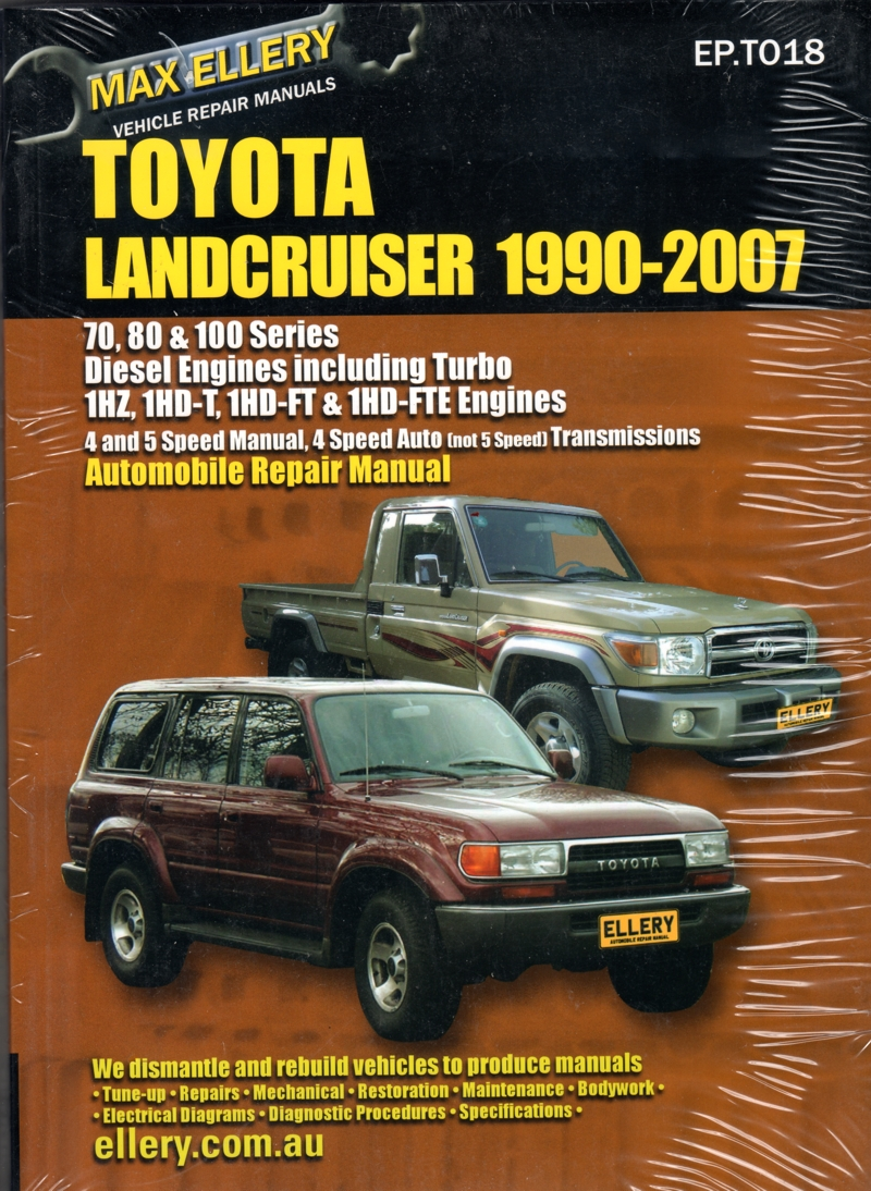 toyota landcruiser 1990 2007 diesel 70 80 100 series ellery repair rh workshoprepairmanual com au