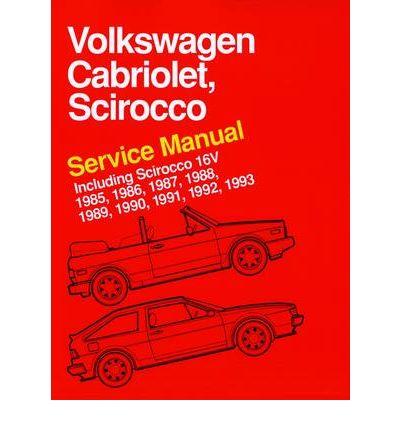 volkswagen cabriolet scirocco service manual 1985 1986